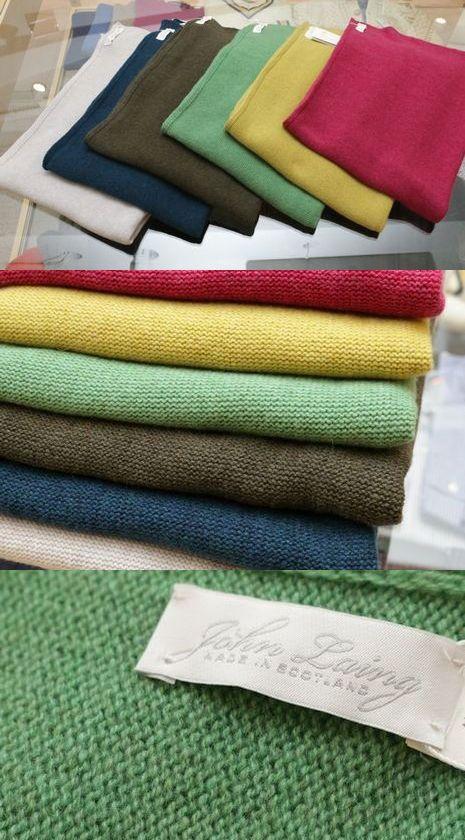 John Laing(ジョン レイン)で使用しているカシミヤ糸は<br>カール・ラガーフェルドも認める最高品です!!