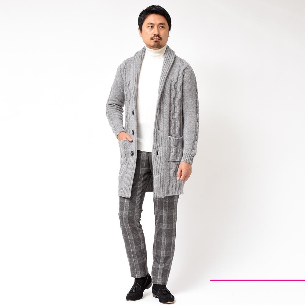 追加色登場!!<br>Settefili Cashmere(セッテフィーリカシミア)ケーブル ショール カーディガンシリーズ!!