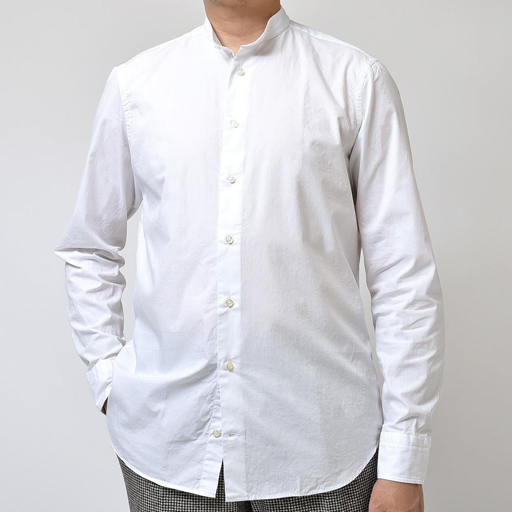 サイジングに注目です!!<br>GUY ROVER(ギローバー)バンドカラーシャツ