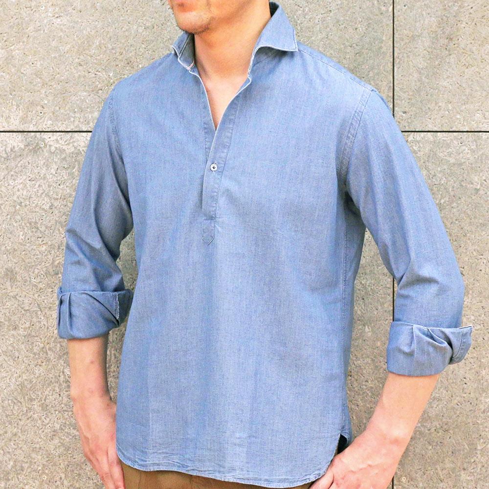 来季はデニムがヤバいそうですよ!?</br>ORIAN(オリアン)プルオーバーシャツ。